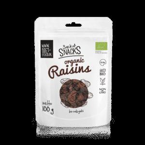 Bio-Sultaninen-Rosinen eignen sich hervorragend als eigenständige Pausensnacks und bereichern den Geschmack zusätzlich zu Gebäck