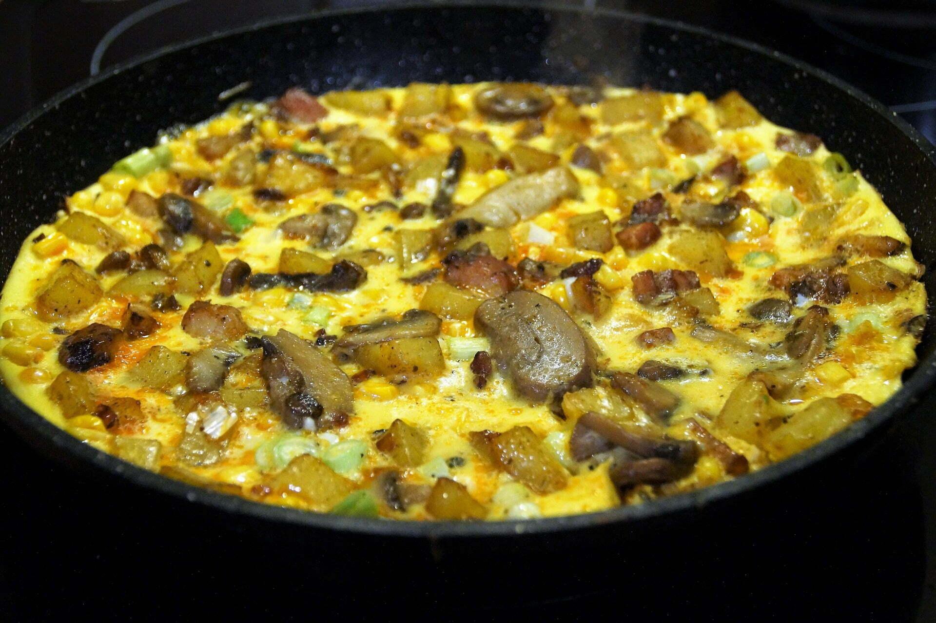 Käse-Champignon-Omelett