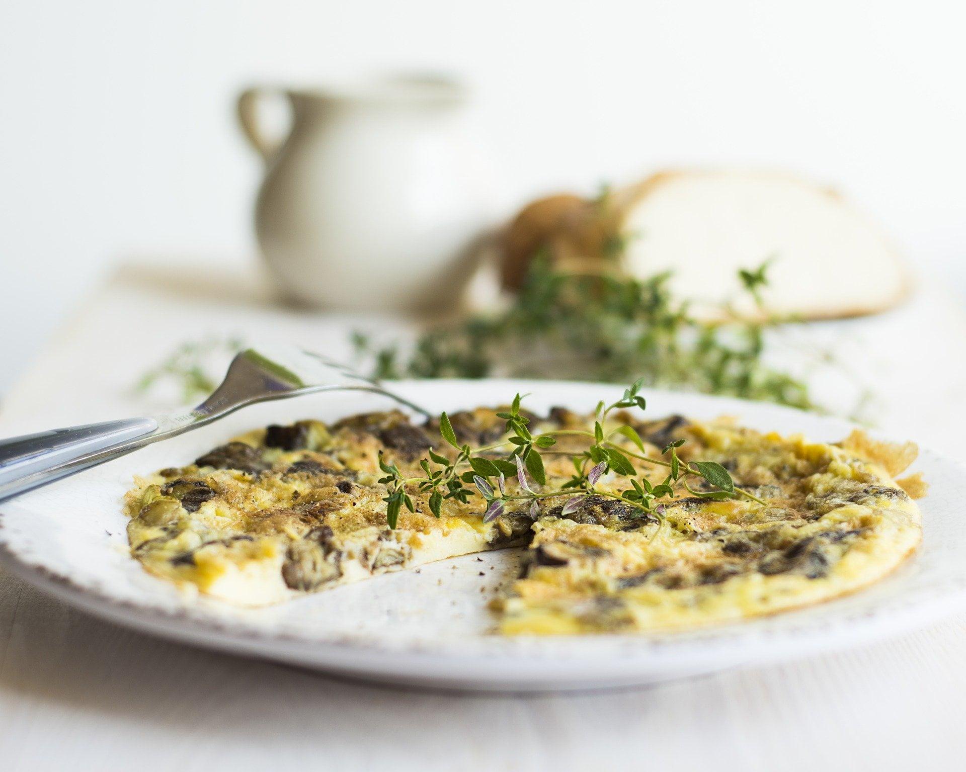 Omelett mit Champignons und Pouletbrust