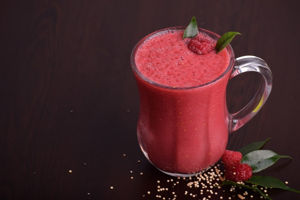 Low Carb Acai- Himbeer Smoothie