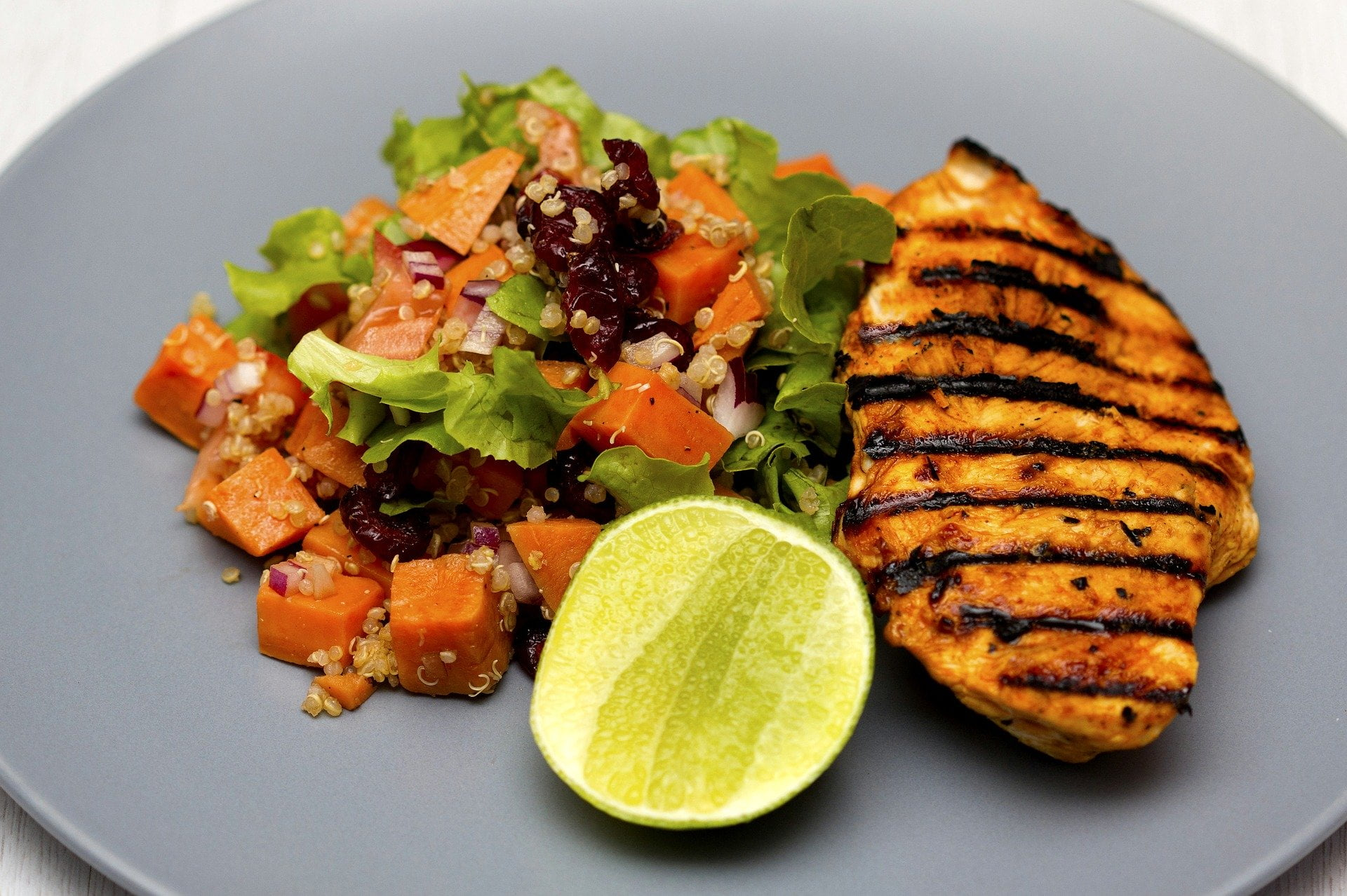 Quinoa Salat mit Pouletbrust