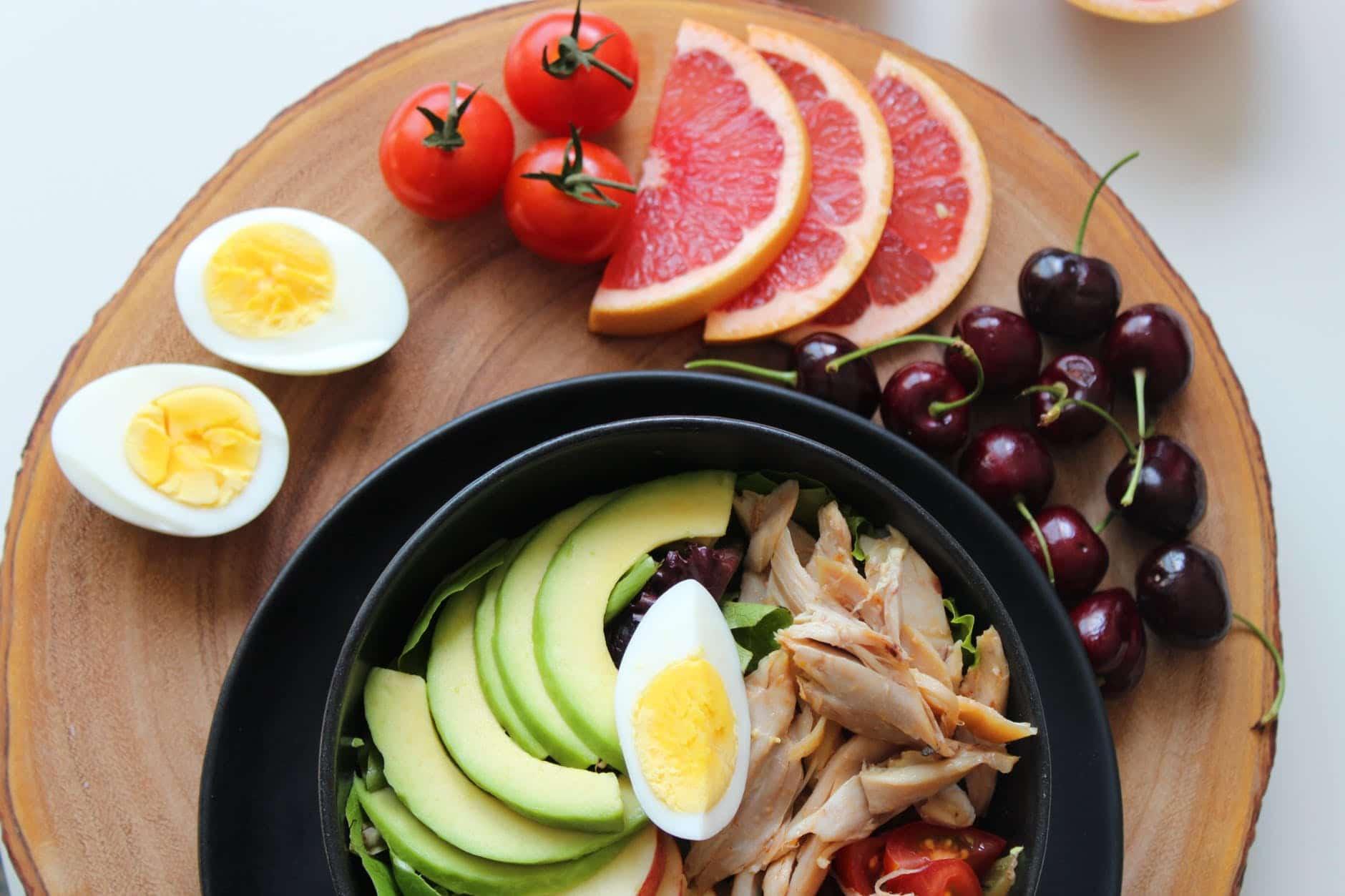 Avocado Salat mit Poulet