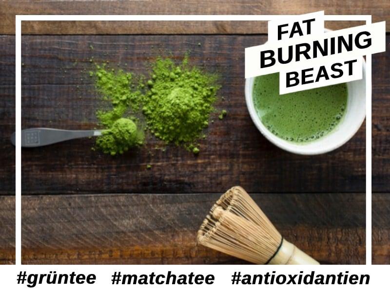 Antioxidantien-Matcha Tee.