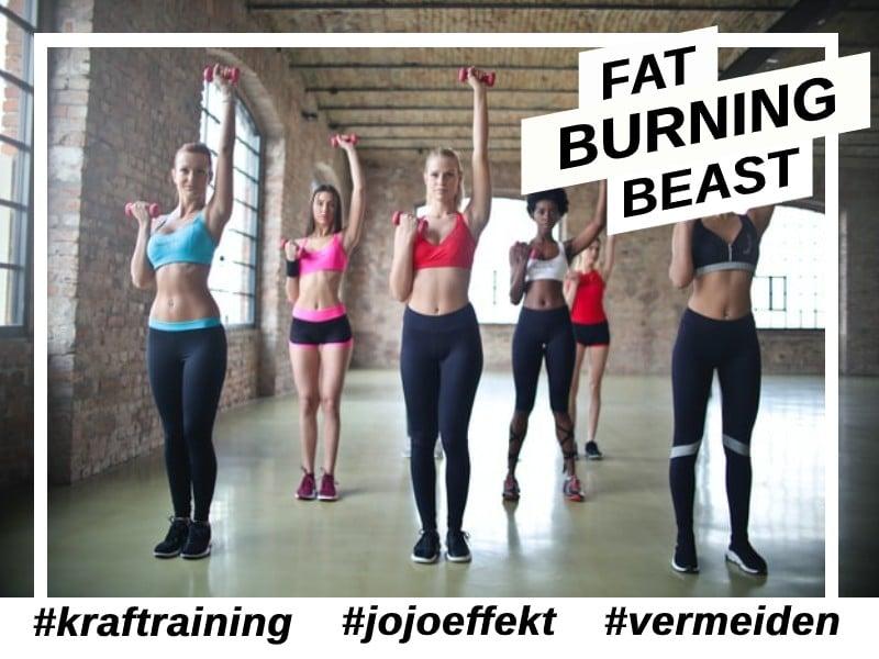 Jojo Effekt nach radikal Diäten durch Muskelaufbau vermeiden
