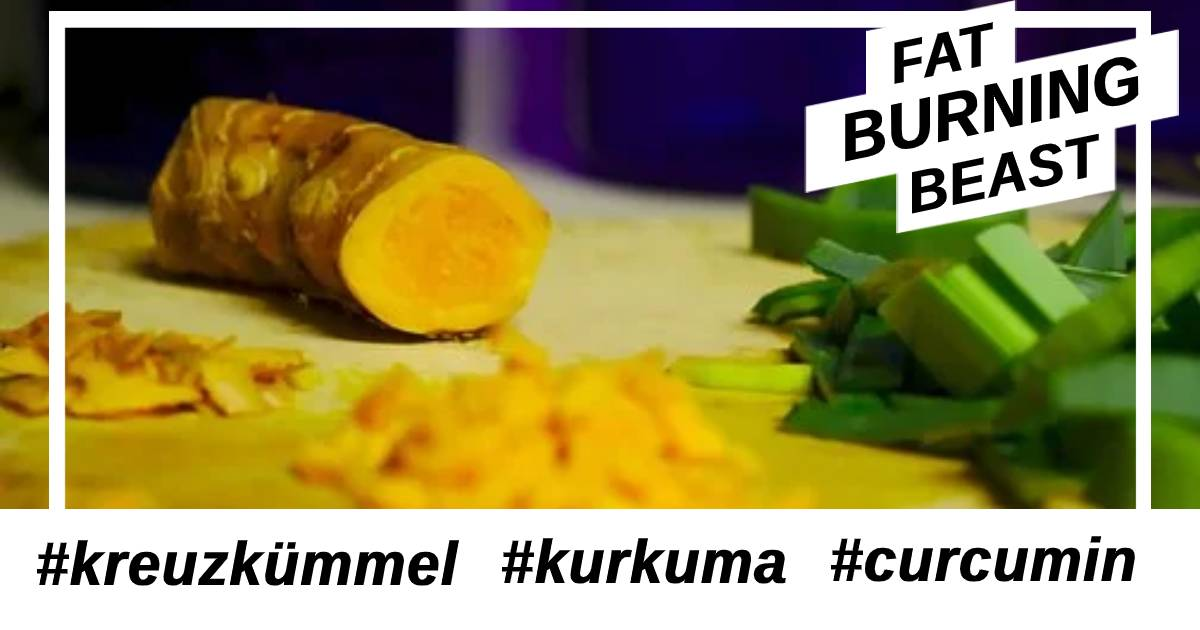 Unterschied von Kreuzkümmel, Kurkuma und Curcumin