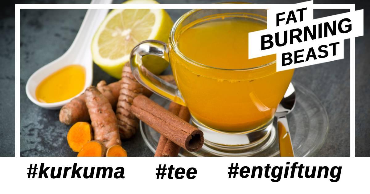 Kurkuma Tee für Entgiftung Körper