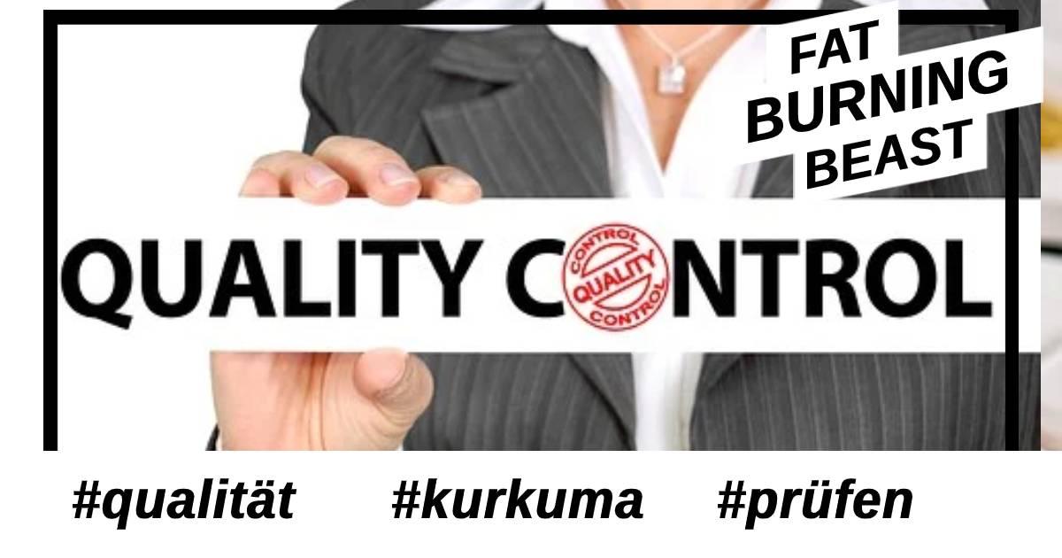 Qualität von Kurkuma prüfen